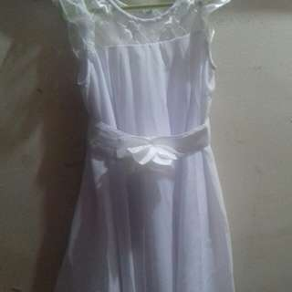 White dress 2-3 years  old