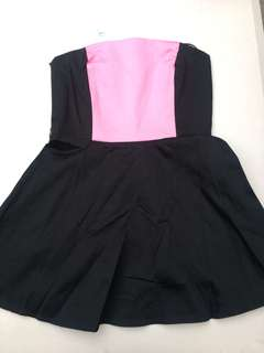 Black and pink Pin up style dress