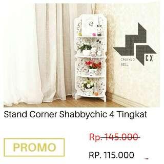 Stand corner shabbychic 4 tingkat