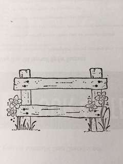 Magnolia Spring Fence EZ-mounted Stamp