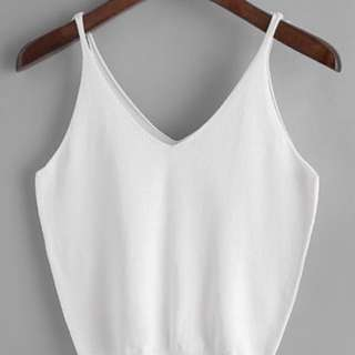White Knitted Cami Top