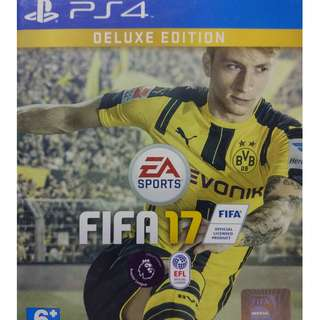 Used Playstation 4 PS4 Fifa 17 Deluxe Edition Region 3 (NEAREST MRT)