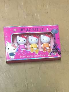 Cute Hello Kitty Lip Balm Set