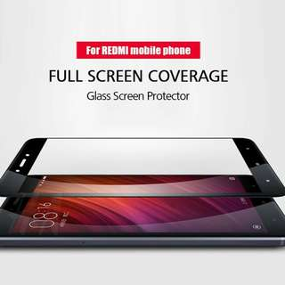Pelindung Layar Tempered Glass Xiaomi Redmi 4x Full Cover
