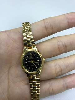 Ladies gold stainless steel watch