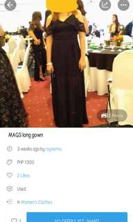 MARK DOWN black long chiffon gown. by: MAGS