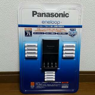 Panasonic battery charger with rechargeable batteries