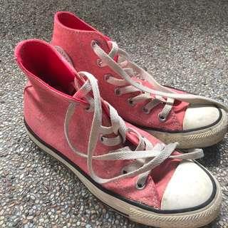 Pink Converse High Cut Shoes