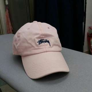 Stussy Pink Cap 淺粉紅色鴨嘴帽 (Adjustable 可調教)