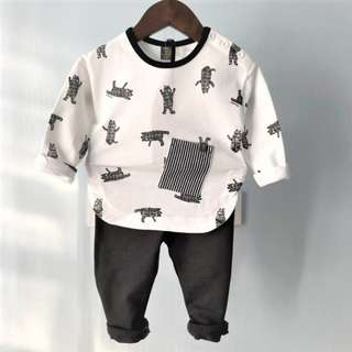 Brand New - 2018 Fashionable Korea Designer Premium Cotton Boy Set 2-Piece