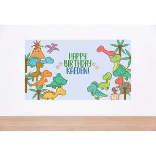 Dinosaur Birthday Backdrop