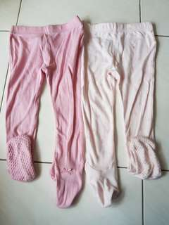 PL Mothercare long pants covered toes 12mo to 18mo