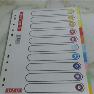 A4 paper and file divider