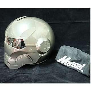 Helm Iron Man silver size L merk Masei new murah
