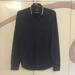 <Zara Man> Navy Blue Long Sleeves New