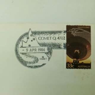 Halley's Comet 1986 Australian First Day Cover