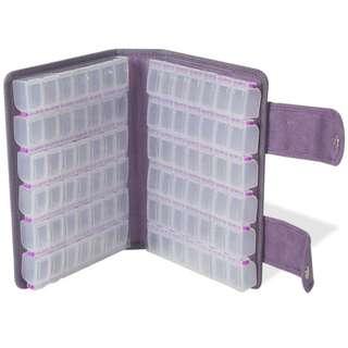 Craftmates Double Sided Case with 12pcs of 7 Compartments Organizer