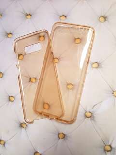🆕️Gold Clear TPU Case Shockproof Cover For Samsung Galaxy S8