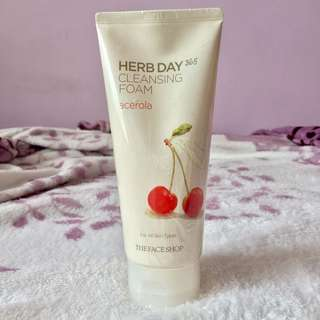 The Face Shop Herb Day 365 Cleansing Foam in Acerola