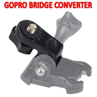 TGP061 Universal Bridge Adapter Converter for GoPro Mount with 1/4 inch connector