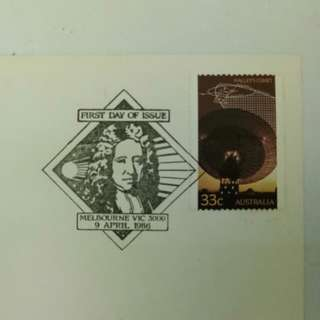 [Edmond Halley Chop] Halley's Comet 1986 Australian First Day Cover