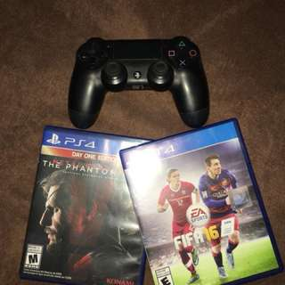 Ps4 wireless bluetooth Controller w/ free 2 games!