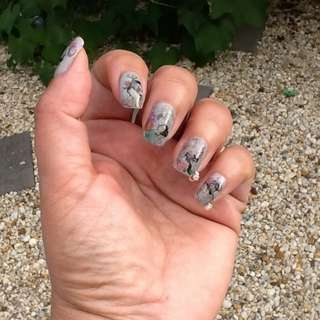 HOT 12 colors/set 120pcs Colorful Pearl Gold Nail Art Dangle Ring Charm Drill Set Nail Manicure Nail Art Decors Wheel Charms