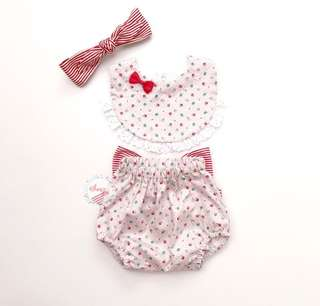 Sugarbibs Baju bayi set bloomers + bib + headband