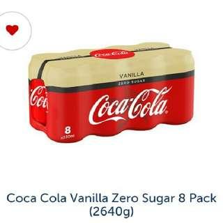 Zero Coke vanilia