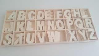 Wooden Alphabets Wood ABC