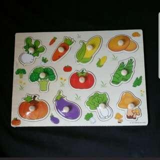 Vegetables Wooden Puzzles