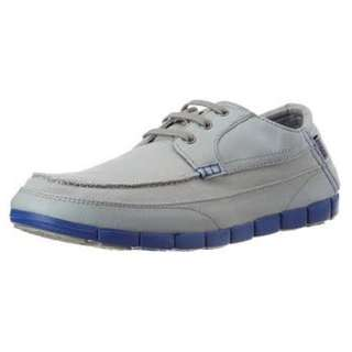 Crocs Men's Stretch Sole Lace-up M Light Grey and Cerulean Blue Casual Sneakers 100% Genuine