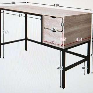 北歐風書桌