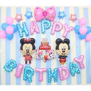 (In stock)Micky Mouse Theme Party Decoration Set-Happy Birthday 🎈