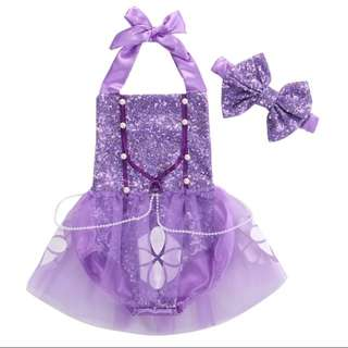 Sofia the first baby romper