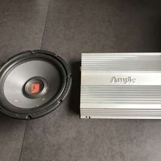 Car subwoofer with amp