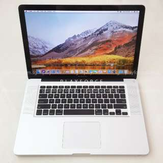 "Pro 2011 15"" - Apple MacBook Pro Early 2011 15"" i7 8gb 750gb"