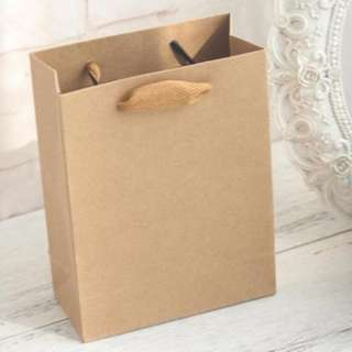 Small Paper Bag with Broad Handle