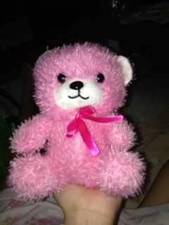 Pink Bear with bow
