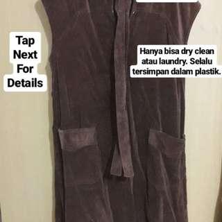 Dress Beludru Cokelat