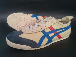 ONITSUKA TIGER MEXICO 66 DELUXE RED BLUE BEIGE LEATHER