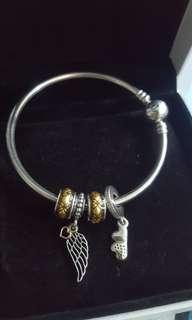 🍭 Authentic Pandora Bangle and Charms Set ❤