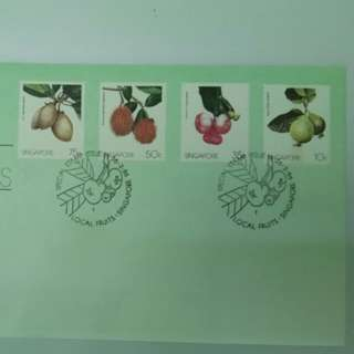 Local Fruits 1986 Singapore First Day Cover