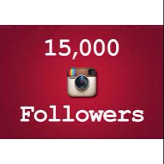 15K instagram followers