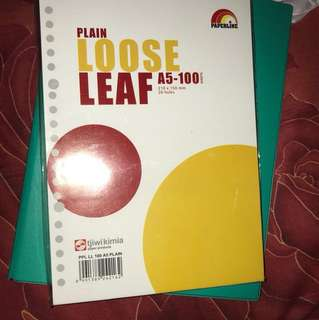 Plain Papper binder A5