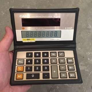 Casio 懷舊 計算機 計數機 摺合薄型 太陽能