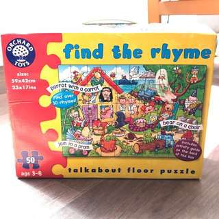 Find The Rhyme Puzzle Orchard Toys