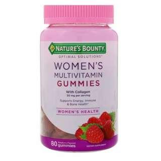Nature's Bounty, Women's Multivitamin with Collagen, Raspberry Flavored