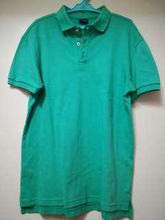 Blued polo shirt