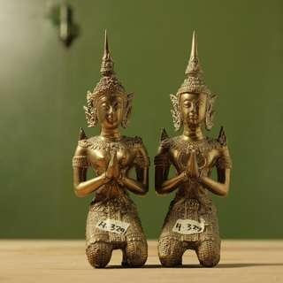 Sepasang Patung Kuningan Thailand (H.329)